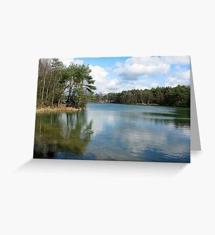 Blue Lake Mirror Greeting Card