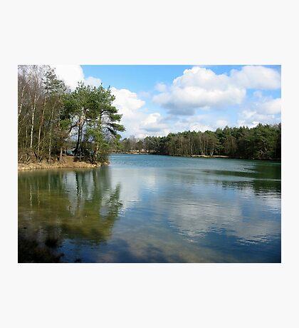 Blue Lake Mirror Photographic Print