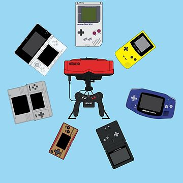 Gameboys + Virtualboy by mattskilton