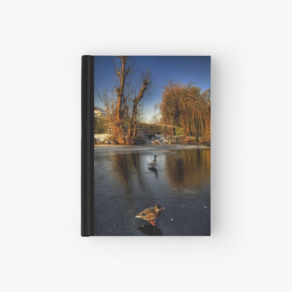 Ducks On Ice  Hardcover Journal