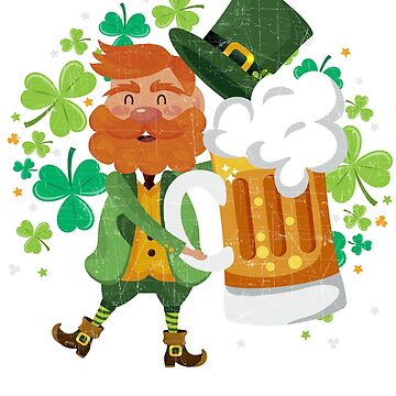 Leprechaun Beer Shamrock Drinking - St Patrick Day's by EcoKeeps