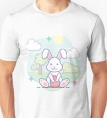 Süßer Osterhase im Frühling Unisex T-Shirt