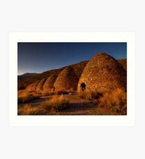 Wildrose Charcoal Kilns. Art Print