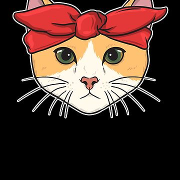 Cute Gangster Bandana Cat Thug Kitty by perfectpresents