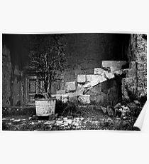 derelict, The Sassi, Matera, Basilicata, Italy Poster
