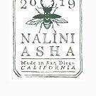 NaliniAsha Art Logo green on white von Nalini Biggs