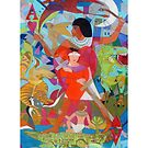 Ace of My Heart Giclee Print with Border by Denise Weaver Ross