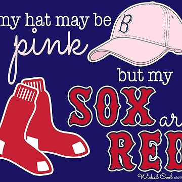 Pink Hat Red Sox by WickedCool