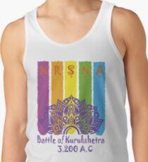 Krsna Batalha de Kurukshetra - Violet Men's Tank Top