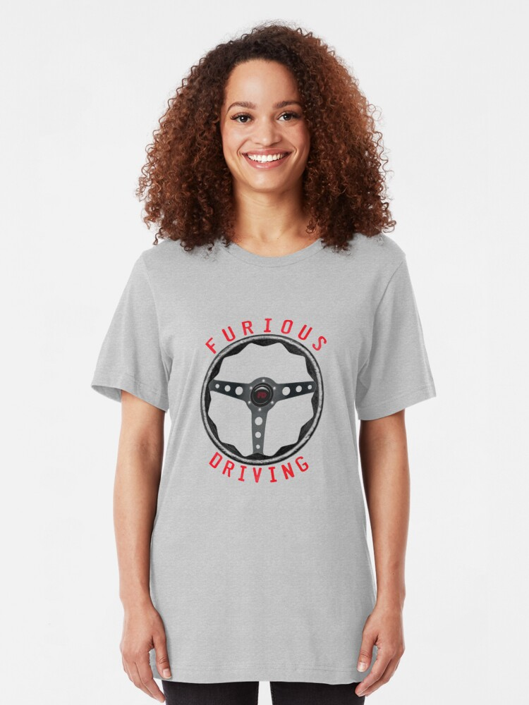 Alternate view of Large Furious Driving logo: Fix it. Drive it. Fix it some more. Slim Fit T-Shirt