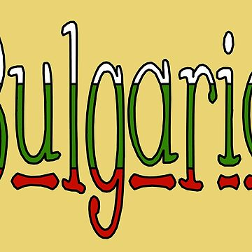 Bulgaria Font #1 with Bulgarian Flag by Havocgirl