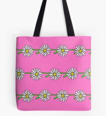 Daisy Chain, Pink Tote Bag
