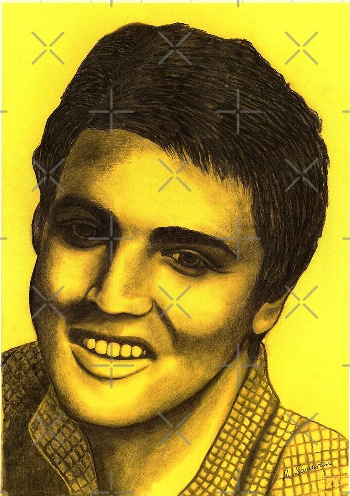 Elvis Presley celebrity portrait by Margaret Sanderson