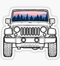Sunset Pines Jeep Sticker