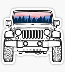 Sunset Pines Jeep Sticker