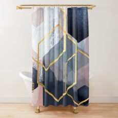 Abstract Landscape Shower Curtain