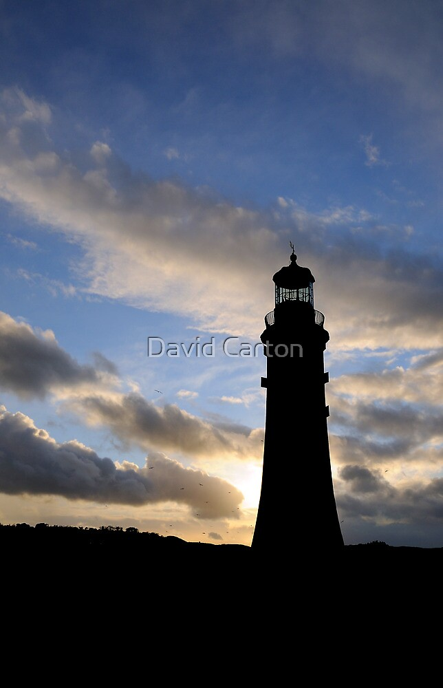 Silhouette of Smeaton's Tower, Plymouth, UK by David Carton