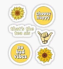 Paket mit gelben Aufklebern Sticker