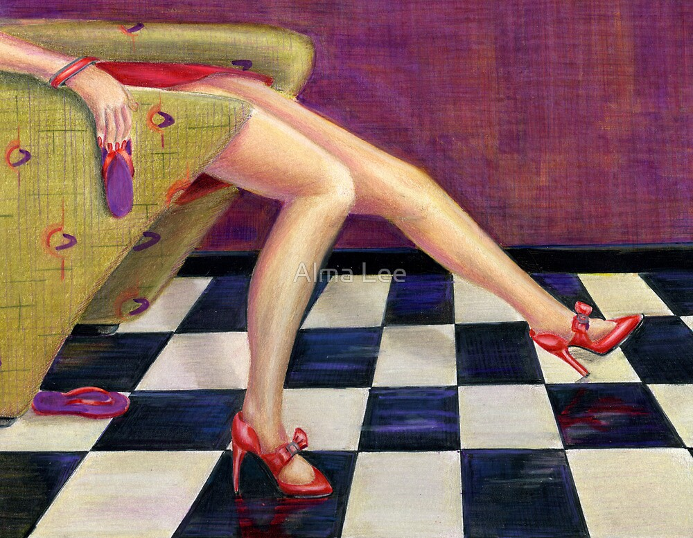 Relish the Relinquishing (high heels and flip flops) by Alma Lee