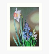 Narcissus and hyacinth Art Print