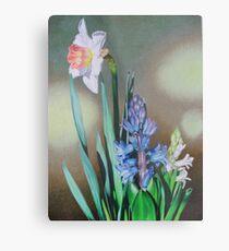 Narcissus and hyacinth Metal Print