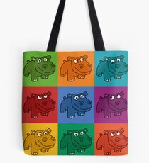 Pop Hippos Tote Bag