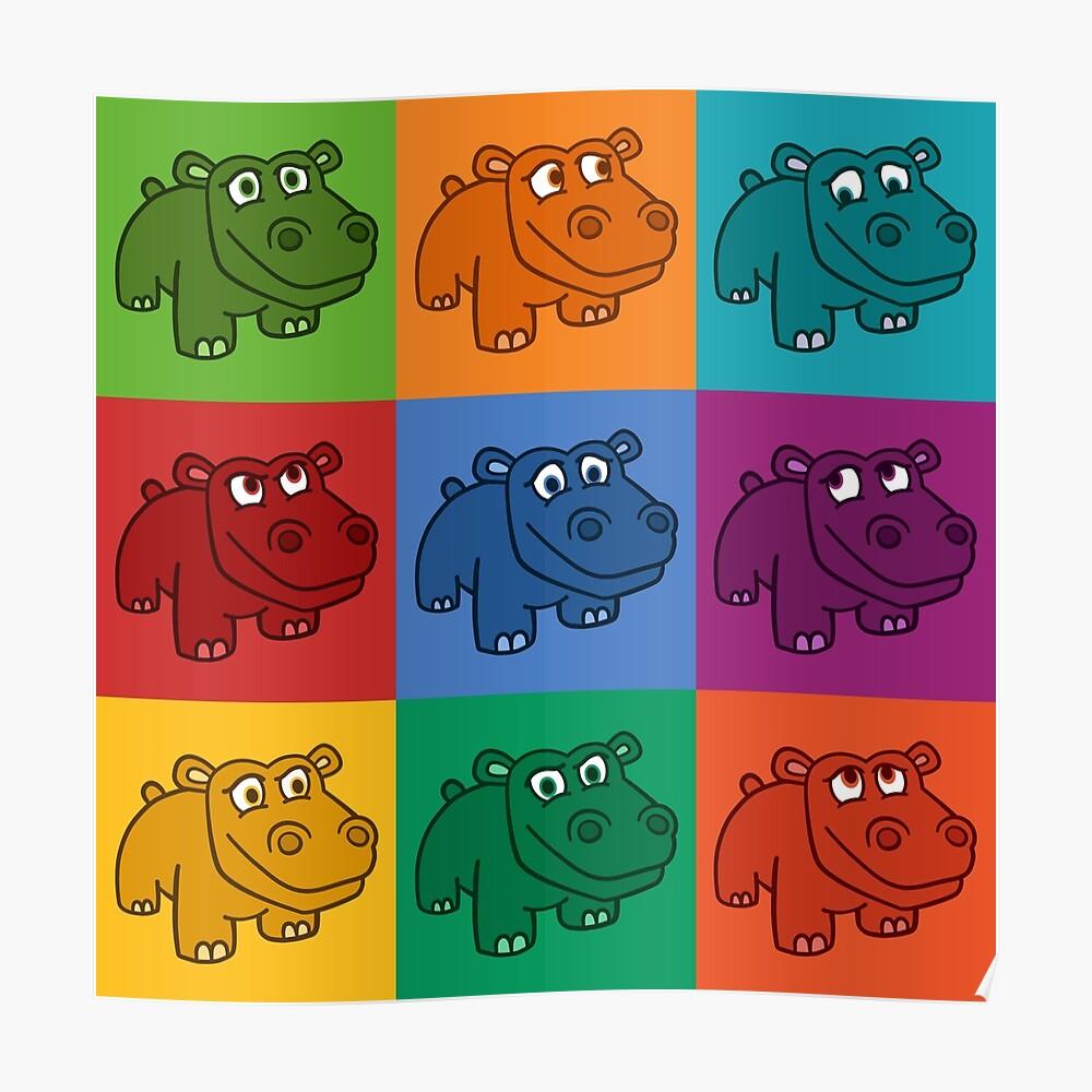 Pop Hippos Poster