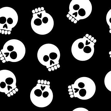 Skull Cartoon Seamless Pattern Illustration by hobrath
