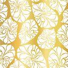 Golden Leaf Vectors by Sandra Hutter