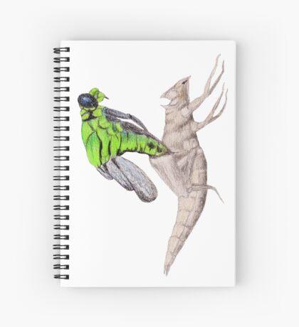 Dragonfly emerging Spiral Notebook