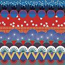 Japanese Tribal Design by Sandra Hutter