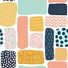 Abstract Puzzle Shapes by Sandra Hutter