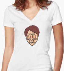 Pushing Daisies - Ned the Piemaker Women's Fitted V-Neck T-Shirt