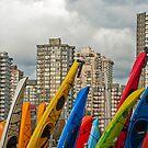 Kayaking Skyline by Wanda Staples