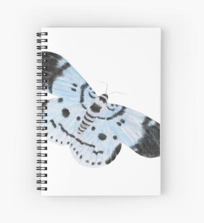 Blue Tiger Moth Spiral Notebook