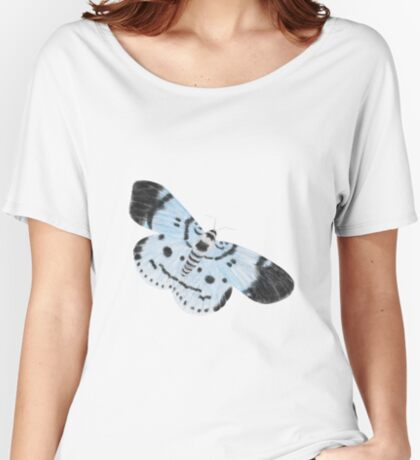 Blue Tiger Moth Relaxed Fit T-Shirt