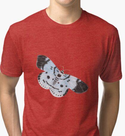Blue Tiger Moth Tri-blend T-Shirt