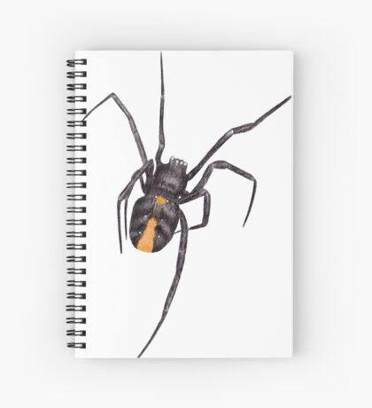 Red Back Spider Spiral Notebook