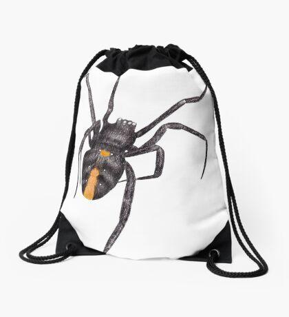 Red Back Spider Drawstring Bag