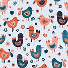 Scandinavian Baby Birds by Sandra Hutter