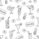 Monochrome Cocktail Glasses by Sandra Hutter