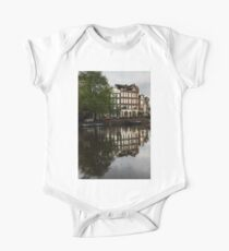 Amsterdam Canal Houses in the Rain One Piece - Short Sleeve