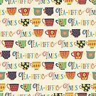 Colorful Teariffic Pattern by Sandra Hutter