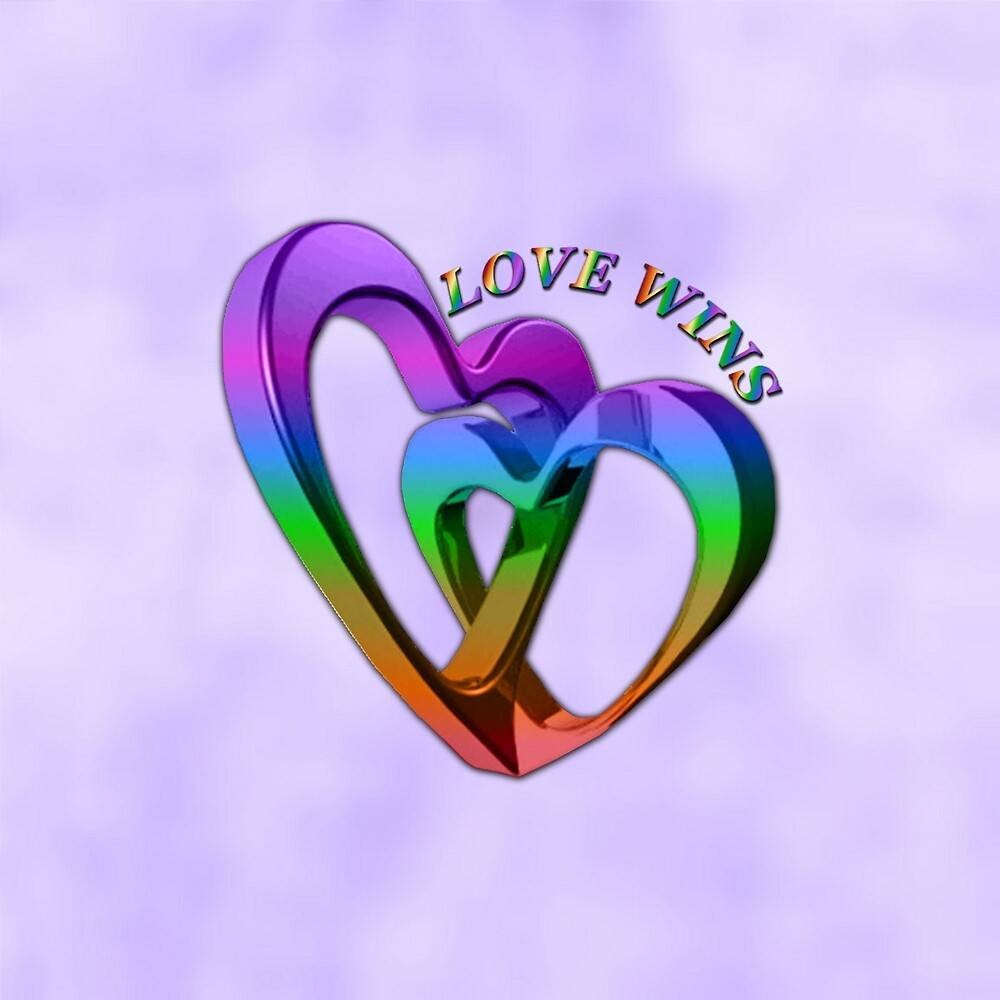 Purple Love Wins Rainbow Hearts Equality by HavenDesign