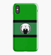 Anonymous Flag by Chillee Wilson iPhone Case