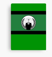 Anonymous Flag by Chillee Wilson Canvas Print