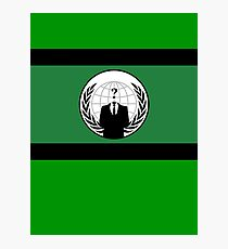 Anonymous Flag by Chillee Wilson Photographic Print