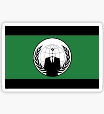 Anonymous Flag by Chillee Wilson Sticker
