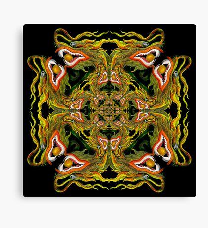 Dragon Head Mandala Canvas Print