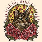 Pizza Cat by MoxxiFoxxy